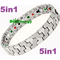 Titanium Magnetic Energy Germanium Armband Power Bracelet Health Bio 5in1 Bio 260