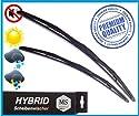 2 x Premium HYBRID Scheibenwischer / Set - Satz / 530 - 475mm / Front - Frontscheibenwischer / Wischerblätter AERO / Premium Qualität SHYBPOLY-729