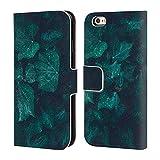 Head Case Designs Offizielle PLdesign Efeu In Dunkles Smaragdgruen Blumen Und Blaetter Brieftasche Handyhülle aus Leder für iPhone 6 / iPhone 6s