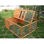 BUNNY BUSINESS Fully Folding Sheltered Rabbit Run Hutch, 48-inch 14