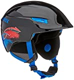Uvex Kinder U-Kid Skihelm, Black-Blue, 51-55 cm