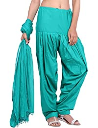 Jaipur Kurti Pure Cotton Patiala Salwar And Dupatta Set (Sea Green)