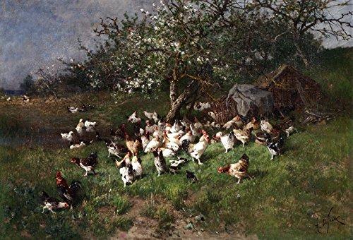 odsanart-4064-cm-x-2794-cm-arti-e-mestieri-natura-morta-polli-sotto-la-fioritura-di-primavera-apple-