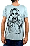 Joker Jared Leto Faces T-Shirt Uomo Stampa Serigrafica Manuale ad Acqua (M Uomo)