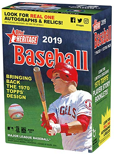 Topps 2019 Heritage Baseball Blaster Box 8 Packs9 Cards