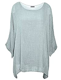 Yidarton Tunique Femme Grande Taille ete Manches Batwing Swag Casual Top Chemise Blouse