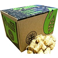 Eco Blaze Natural Firelighters - 200 Box - Spruce Wood Wool Coated Natural Wax. Instant Fire Starters For Wood Burners, Stoves, Lumpwood Charcoal, Chimeneas and Campfires