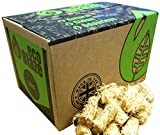Allume-feu naturel Eco Blaze - Cire naturelle enduite de laine et épicée, boîte de 200. Allume-feu pour poêles à bois, poêles à bois, charbon de bois à grumeaux, chimeneas et feux de camp