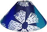 "RDC 13"" Round Blue and White Designer Lamp Shade for Table Lamp or Floor Lamp"