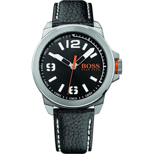 BOSS Orange Unisex Analogue Watch with black Dial Analogue Display - 1513151