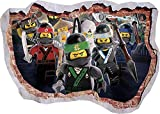 TOP PRINTS 819 Wandtattoo, Motiv Lego Ninjago Sensei Lloyd Jay Kai Ninja - 65x40cm