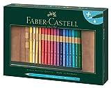 Faber-Castell 117530 - Albrecht Dürer Künstleraquarellstift, 30 Stifte in Einzelfarben inklusive Stifterolle und ein Wassertankpinsel