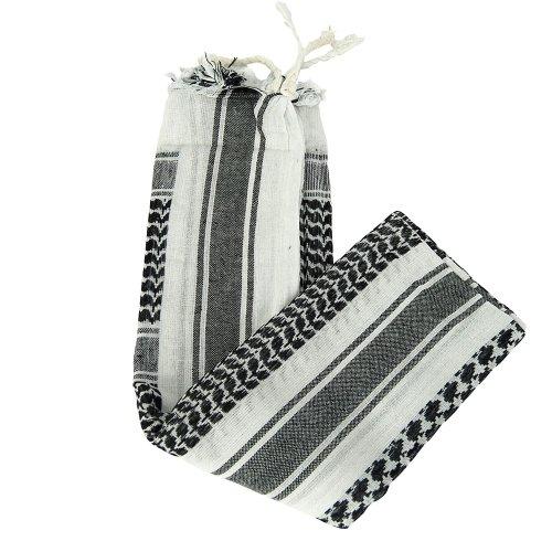 Mil-Tec Halstuch Shemagh 110X110cm Weiß/Schwarz