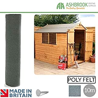 Shed Felt | Roofing Felt | 3 Colours | 3 sizes | Shed Roof Felt | Polyester 10m | Green