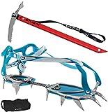 Camp Steigeisen Stalker Universal blue + Steigeisentasche + Eispickel Tour Ultralite von Stubai 59cm