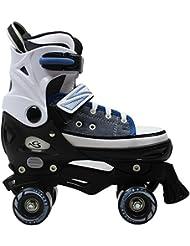 Cox Swain Kinder Rollschuhe -JOEL- Größenverstellbar: XS(29-32), S(33-36), M(37-40), L(40-43)- ABEC5