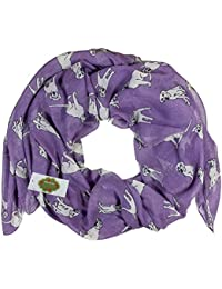 New with Tags Labrador Dogs Print Design Women's Scarves Large Scarfs Shawl (Purple)