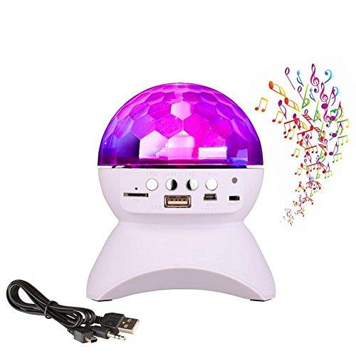 LED-Bühnenbeleuchtung Bluetooth-Lautsprecher, RGB-Disco DJ-Bühne Bluetooth-Lautsprecher-Lichter, Unterstützung TF-Karte zum Abspielen von FM-Radio für Party, Halloween, Weihnachten, Geburtstag, etc. , white