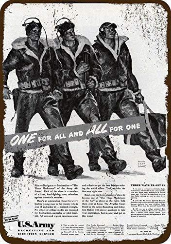 1942 U.S. Air Corps Vintage Look Replica Metal Sign 7
