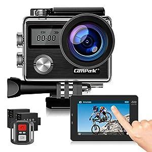 51VXQCFURcL. SS300 Campark Action Cam 4K HD 20MP WiFi LCD Touch Screen Subacquea 40M con Telecomando EIS Stabilizzazione Videocamera 170° Grandangolare 2 Batterie e Kit di Accessori Compatibile con Go PRO
