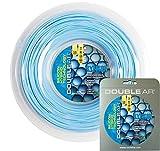 Double Ar–Cuerda de tenis sylikon bolas, monofilamento co-poliestere 1.25mm, azul claro