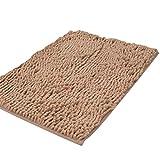 Baijiaye Badematte Rutschfest Badvorleger Weich Badteppich Waschbar Badvorleger Chenille Teppich für Badezimmer Küche Schlafzimmer Kamel
