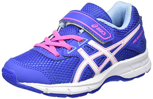 ASICS Pre Galaxy 9 PS, Chaussures de Running Mixte Enfant, Bleu Purple/White/Air Y Blue, 30 EU