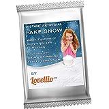 lovellio Instant Fake Schnee Puder/Macht 2Gallonen von künstlichen flauschig Snow/Ideal für Weihnachten Dekoration, Parteien, Spiele/Ideal für Homemade Cloud Slime/Plus tollem Fruit schlamm Giveaway.