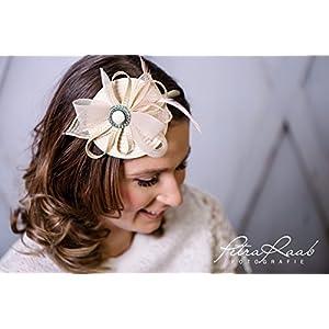 Haarreifen Fascinator royal hat Brautfrisur Hut Brauthaarschmuck Wedding Hochzeit bridal hat Z7