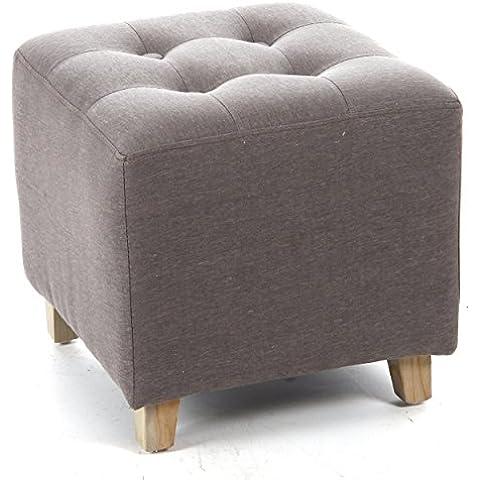 Pouf quadrato - In lino e cotone - Color GRIGIO TALPA