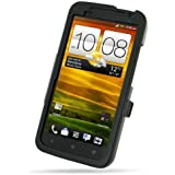 Aluminum Metal Case for HTC One X S720e / HTC One XL 4G - Open Screen Design (Black)