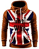 Hombres Casual Printing Hoodie Hooded Deportiva Sudaderas Con Capucha Tops Outwear Camello M