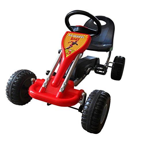 vidaXL Pedal Gokart 89x52x51cm Rot Kinderfahrzeug Tretauto Gokart Rennkart