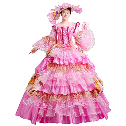 (Cosplayitem Damen Mädchen Lagerter Gothic viktorianischen Kleid Kostüm Abendkleid Palace Maskerade Königin Prinzessin Kleid)