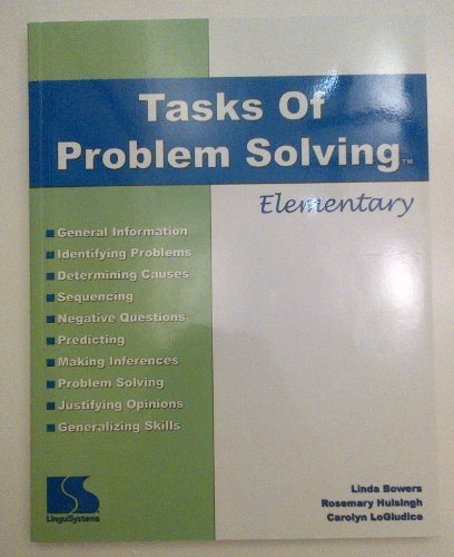 Title: Tasks of Problem Solving Elementary Lingui Systems