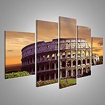 Cuadro Cuadros Impresión sobre lienzo - Formato Grande - Cuadros modernos Coliseo de Roma