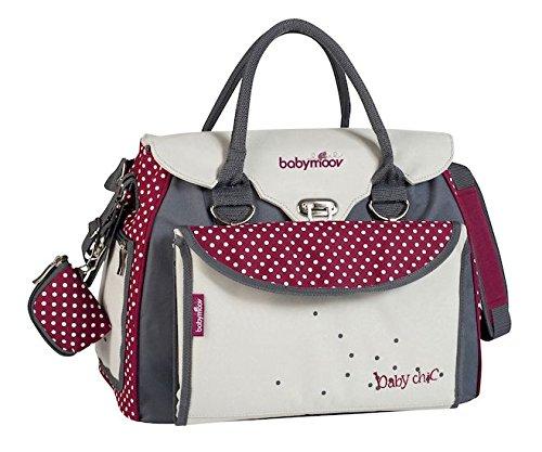 La bolsa de pañales de bebé con estilo se utiliza con una sola mano. Tiene una bolsa de pañales con cambiador extraíble (55 x 45 cm). Es muy cómodo con su correa acolchada ajustable y asas de transporte. Muy sólido con su base reforzada. La mayor par...