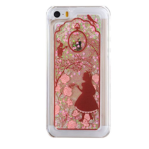 iPhone 5C Hülle,iPhone 5C Case,iPhone 5C Cove,3D Kreativ Muster Transparent Hard Case Cover Hülle Etui für iPhone 5C,EMAXELERS Cute Tier Cat Kaninchen Serie Bling Luxus Shiny Glitzer Treibsand Liquid  I Chirstmas Series 6