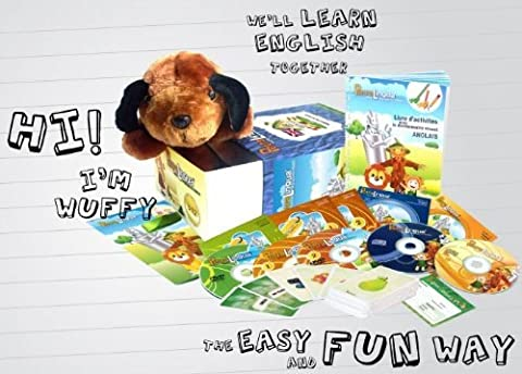 Kit audiovisuel PetraLingua dvd-cd-livres anglais pour enfants