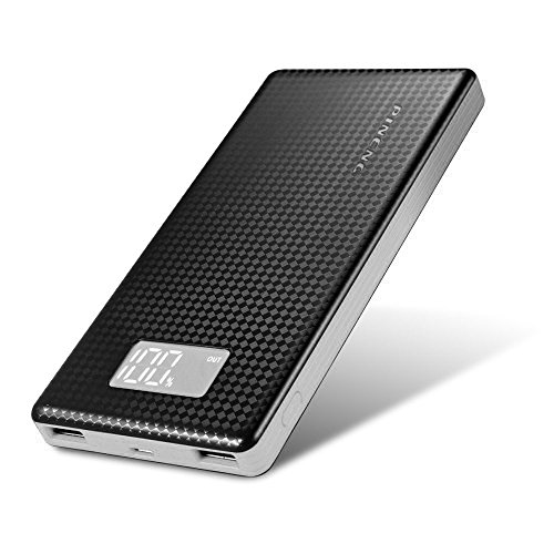 Zoweetek 10000mAh Cargador Portátil, Ultra Alta Capacidad Batería Externa 2 USB Puertos Powerbank con Linterna para iPhone, iPad, Samsung, HTC, LG, Nexus