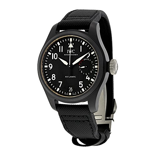 Iwc grande pilota Top Gun automatico nero quadrante mens orologio IW502001
