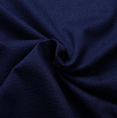 Männer Sommer Art Und Weise Kurze Hülse Art Und Weise Einfach V-Ausschnitt Einfarbig Losen T-Shirts Blue