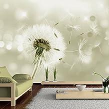 Fotomural 300x210 cm - 3 tres colores a elegir - Papel tejido-no tejido. Fotomurales - Papel pintado - Pusteblume Blumen Natur b-C-0072-a-d