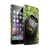 Stuff4 Clipser Brillant Coque de Coque pour Apple iPhone 6+/Plus 5.5 / Selfie Babouin...