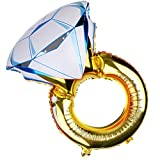 Sharplace Folienballon, Ring Luftballons Folie, Luftballons Hochzeit, Helium-Ballons für Geburtstag Party