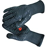 #1 Grill Gloves Withstand Heat up to 932°F - Premium Barbecue & Oven Heat Resistant Gloves - Set of 2 Kitchen Gloves Insulated By Aramid with