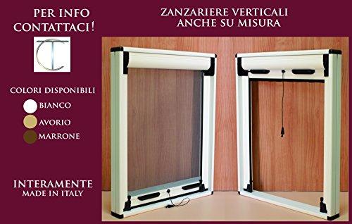 Zanzariera a rullo verticale riducibile - kit per finestre e porte - compatte e pratiche - montaggio e smontaggio rapido - varie misure disponibili anche personalizzabili. (120 x 160, bianco)