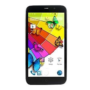 Yuntab Q600 6 pouces Android 4.4 Dual SIM Carte Smartphone Quad-core Ram 1 Go Rom 8Go Dual Caméra 5 Mpxs Wifi 2G GPRS EDGE GSM WCDMA 3G GPS Bluetooth 4.0 Ecran IPS Noir
