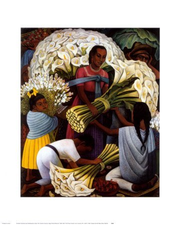 Flower Vendor - Poster by Diego Rivera (16 x 20) by Poster