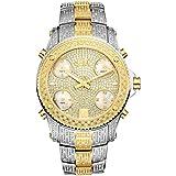 JBW Jetsetter Reloj DE Hombre Diamante Cuarzo Suizo 50MM JB-6213-E